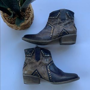 Circle G By Corral Star Inlay And Studs Boots 7.5